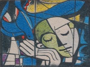 Hören (Sandbild von Evelin Friedrich)