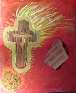 Der Herr gibt auf dich acht (Hannelore Bauer, Acryl)