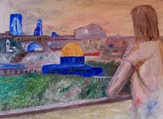 Jesus weint über Jerusalem (Karin Sinne)